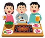 焼き肉パーティー イラストの画像